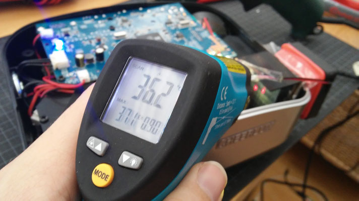 ir thermometer testing led-heatsink temperature