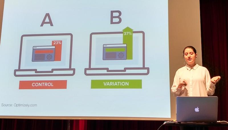 Control vs Variation AB testing