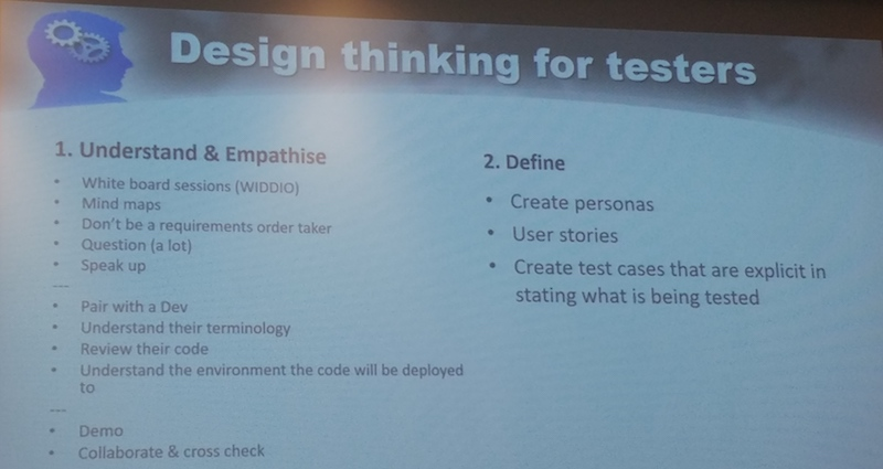 Design Thinking for testers