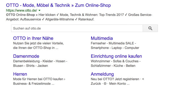 Screenshot-Beispiel-Snippet-Site-Links